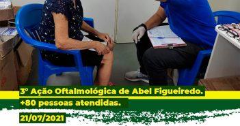 3° Ação Oftalmológica itinerante realizada com sucesso em Abel Figueiredo.