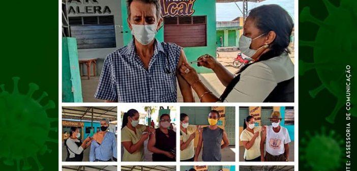 Vacinação contra o coronavírus nesta quinta-feira dia 29 para pessoas de 35 anos acima e segunda dose para idosos que vacinaram dia 28 de abril.